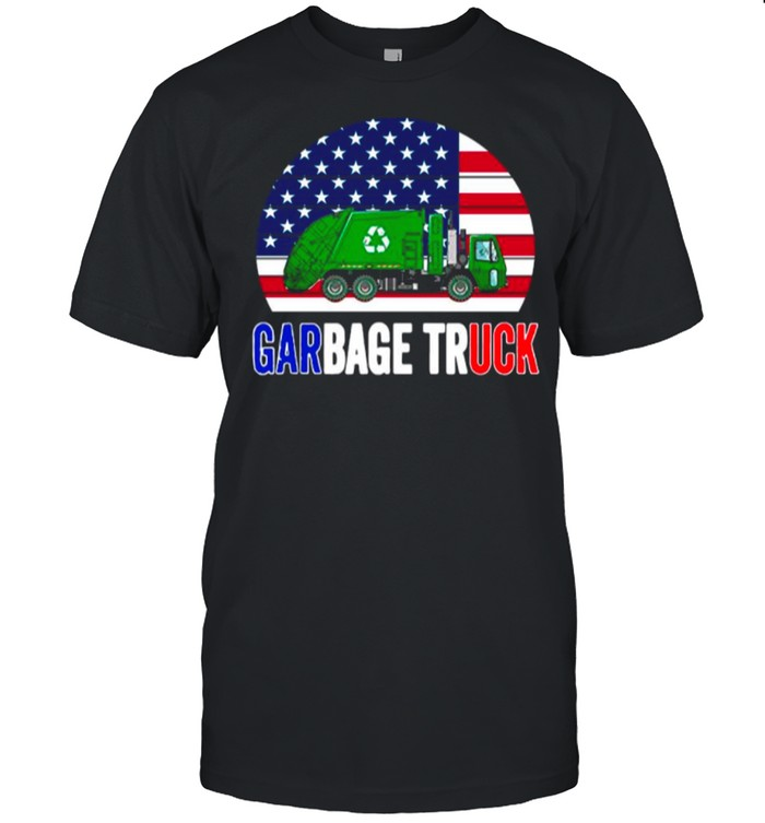 American Flag With Garbage Truck shirt