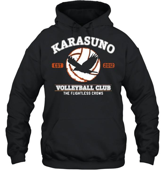 Karasuno Volleyball Club The Flightless Crows shirt Unisex Hoodie