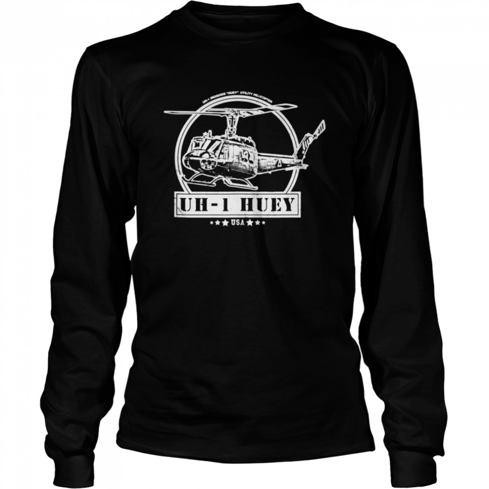 UH1 Huey Helicopter shirt Long Sleeved T-shirt