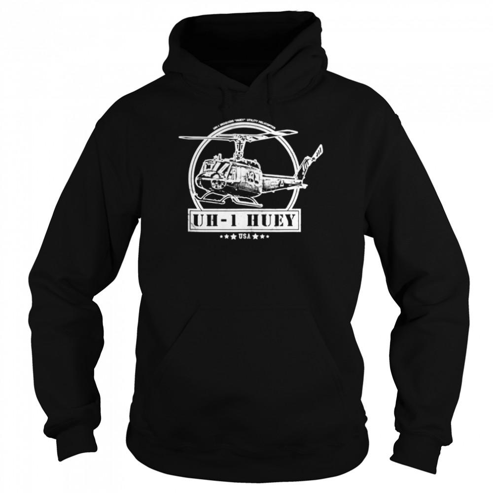 UH1 Huey Helicopter shirt Unisex Hoodie
