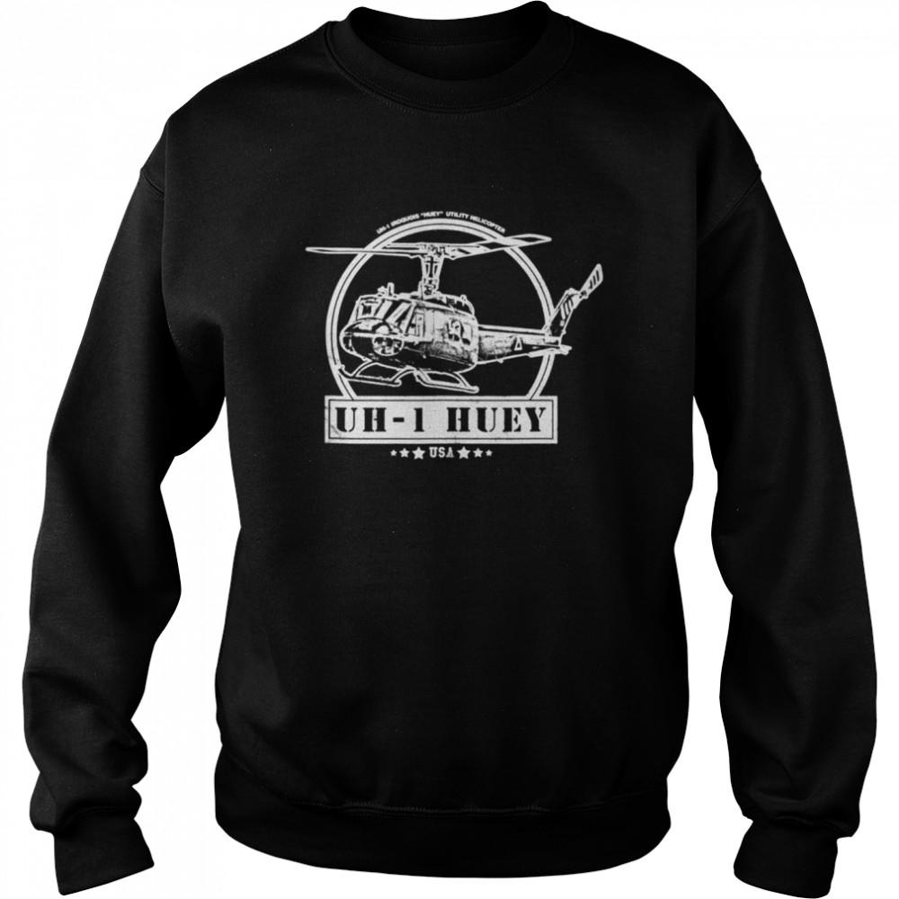 UH1 Huey Helicopter shirt Unisex Sweatshirt