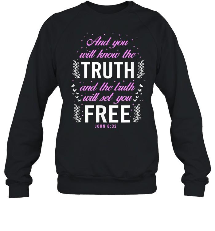 Christian Bible Verse John 832  Unisex Sweatshirt