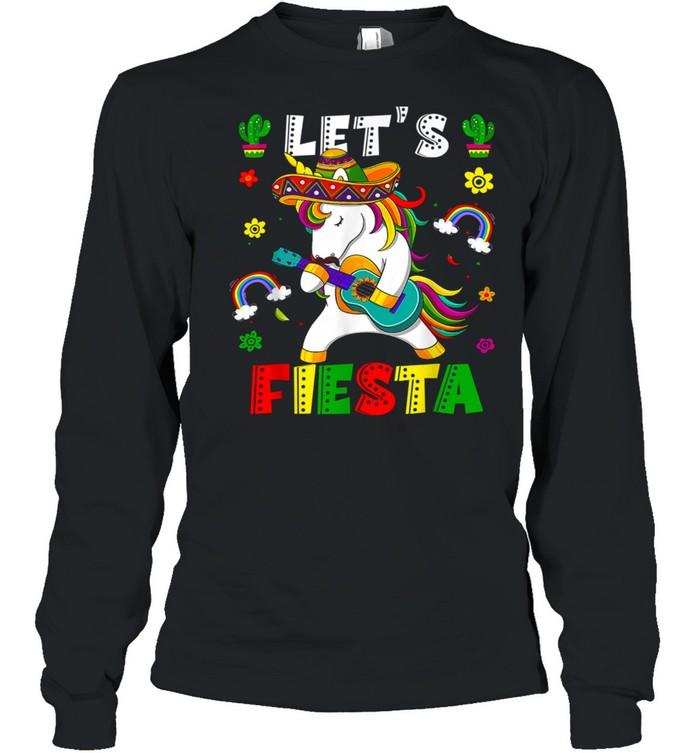 Cinco De Mayo Party Lets Fiesta Dancing Mexican Unicorn Girl shirt Long Sleeved T-shirt