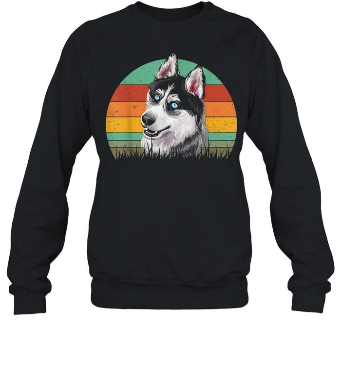Dogs 365 Retro Siberian Husky Dog Vintage  Unisex Sweatshirt