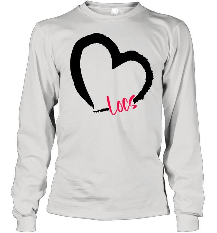 GGT Self Love Heart Natural Hair Locs Goddess Melanin  Long Sleeved T-shirt