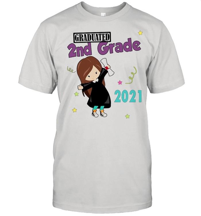 Girly Graduated 2nd Grade 2021 T-shirt