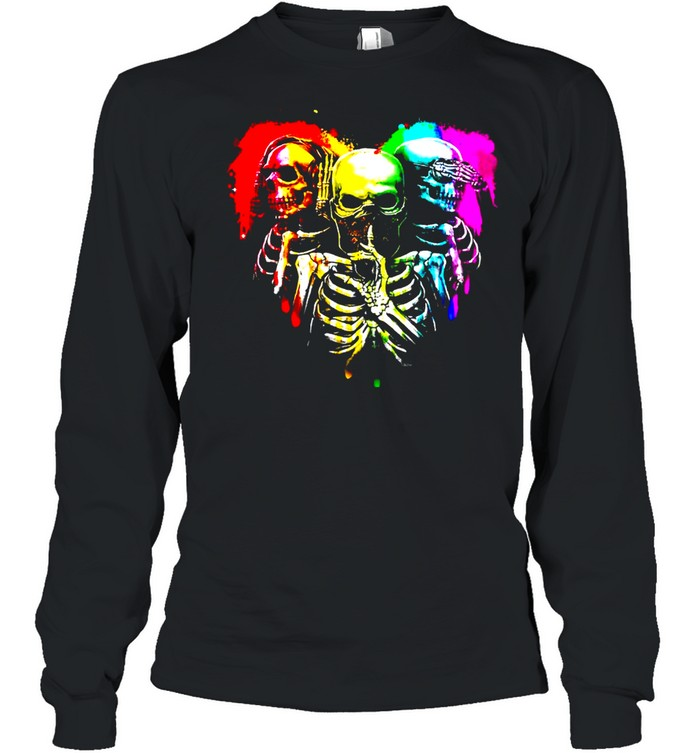 RB Skull Heart LGBT shirt Long Sleeved T-shirt