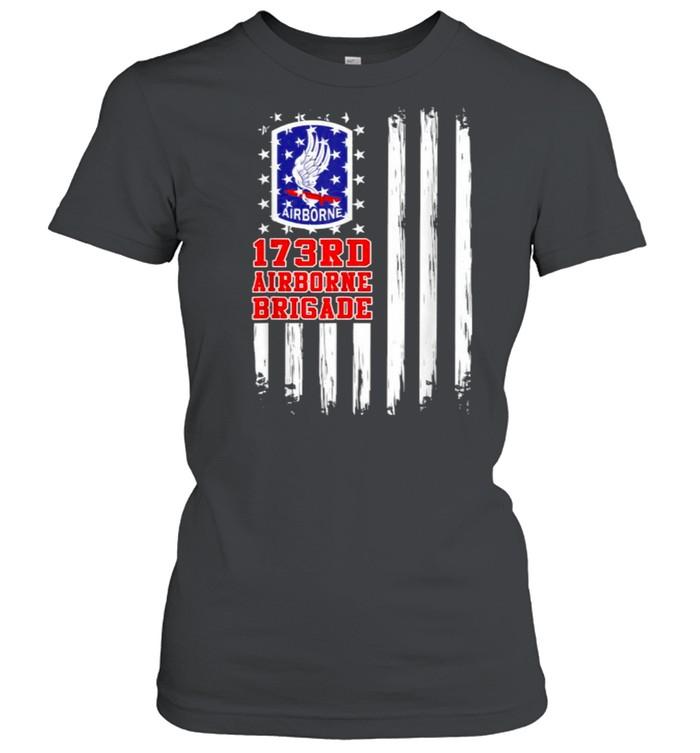 173rd Airborne Brigade American Flag T- Classic Women's T-shirt