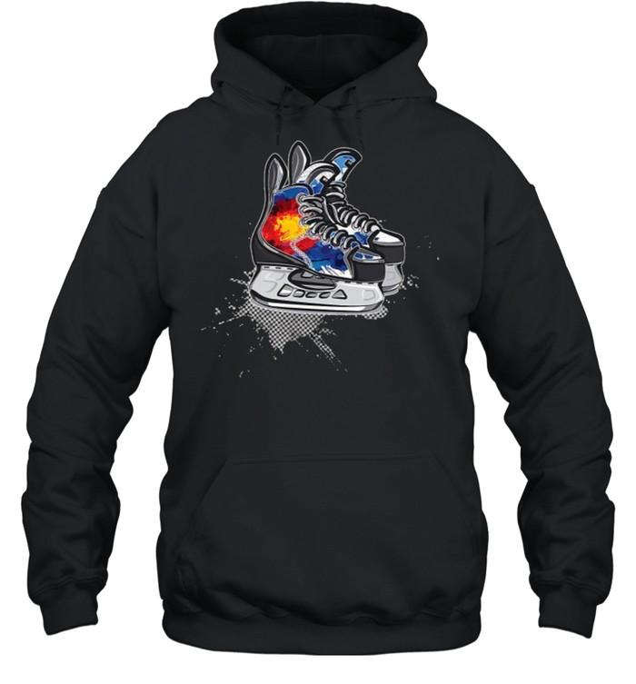 Colorado Hockey Skates T- Unisex Hoodie